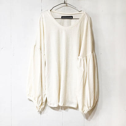 BALLOON SLEEVE TOPS / NATURAL