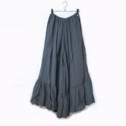 TIERED CULOTTE PANTS / CHARCOAL GRAY
