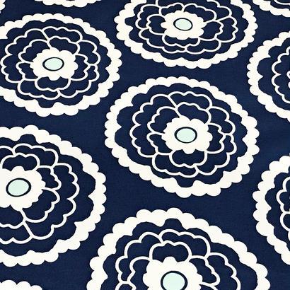 Pat Bravo / Big Flowers (Navy)  ※50cm x 50cm