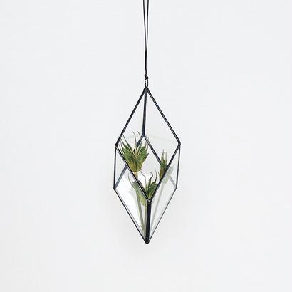 hanging flowervase/rhombohedron/black