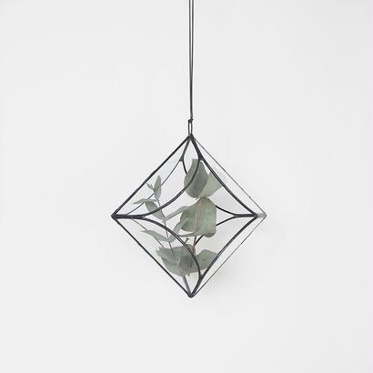 hanging flowervase/cloisonne/black