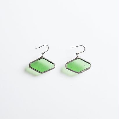 hexagon pierce/green