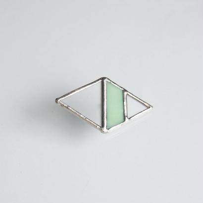 hair accessory rhombus/frost×light green