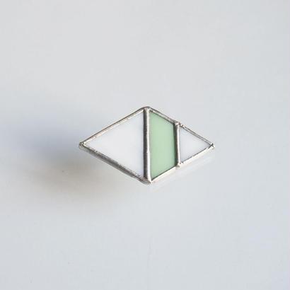 hair accessory rhombus/white×light green