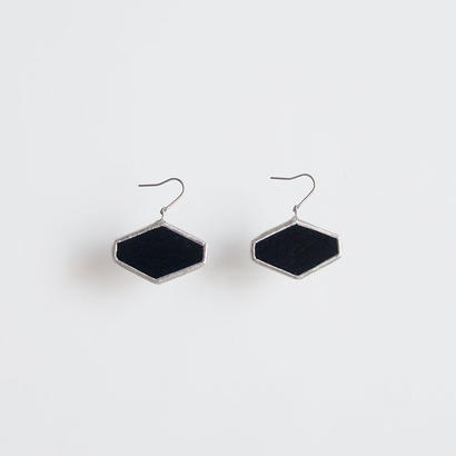 hexagon pierce / black