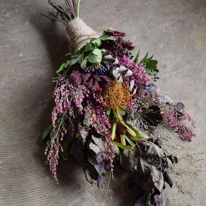 野の花屋 オータムスワッグ シャビーピンク