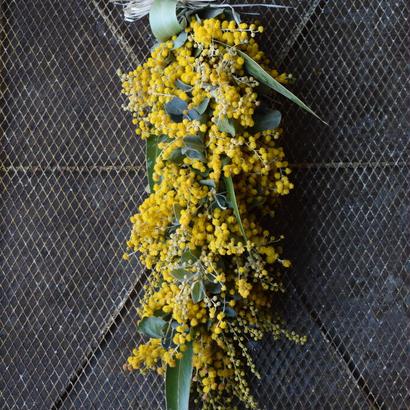 野の花屋  ミモザのガーランド