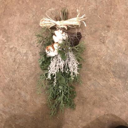 野の花屋 クリスマスホワイトスワッグ