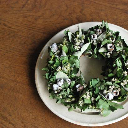 野の花屋 テトラゴナナッツのグリーンリース