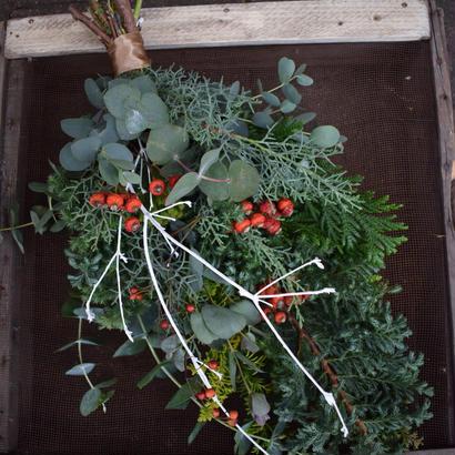 野の花屋 クリスマススワッグ