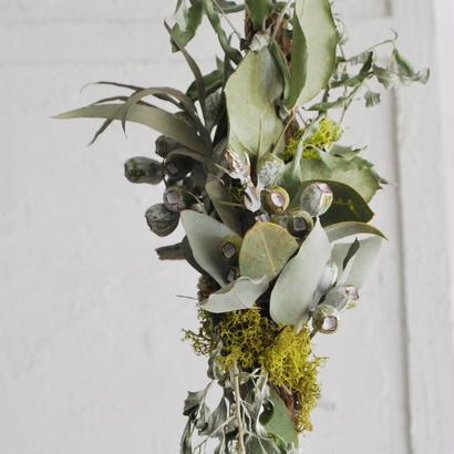 野の花屋 流木とシルバーリーフのオブジェ