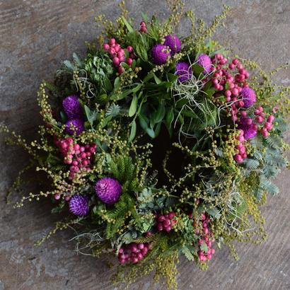 野の花屋 spring   pink wreath