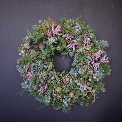 野の花屋  クリスマスピンキーリース