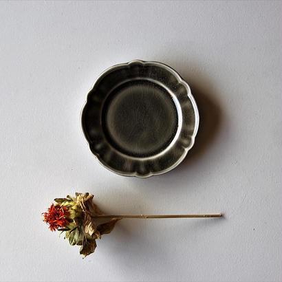阿部慎太朗 花形リムまめ皿・グレー
