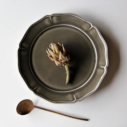 阿部慎太朗 花形リム皿8寸