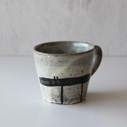 清水しおり 黒絵マグカップ(no.3)
