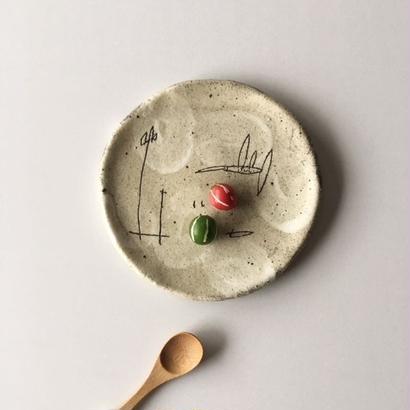 清水しおり ハチドリの丸板皿