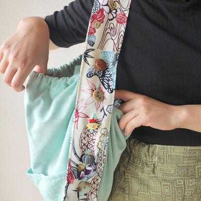 Kimono round shape cloth bag (no.055)