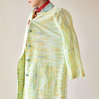 Women's light green long coat (no.017)