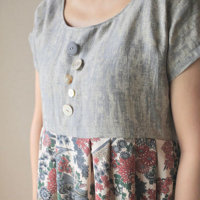 Maxi length Summer Kimono dress (no.037)