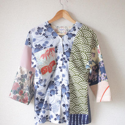 Patchwork flower pattern shirt (no.062)
