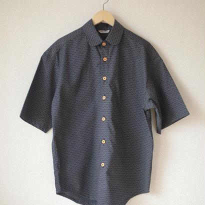 Men's wave-crest pattern shirt (no.045)