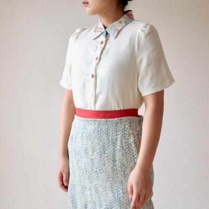 Cotton Linen  Summer blouse (no.043)