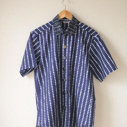 Men's vertical spotted pattern shirt (no.049)