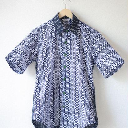 Men's HIRAGANA&YUKATA half-sleeves shirt (no.034)