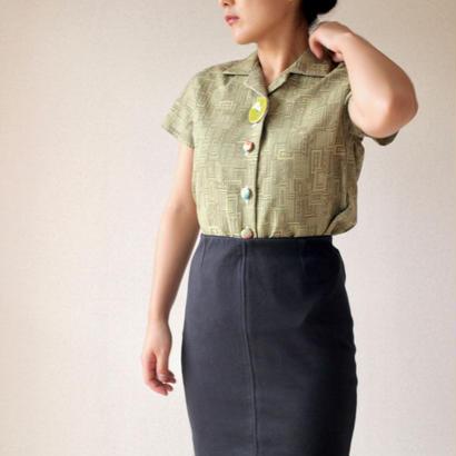 Women's geometric Kimono blouse (no.050)