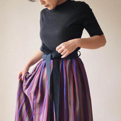 Vintage tucked maxi skirt  (no.070)