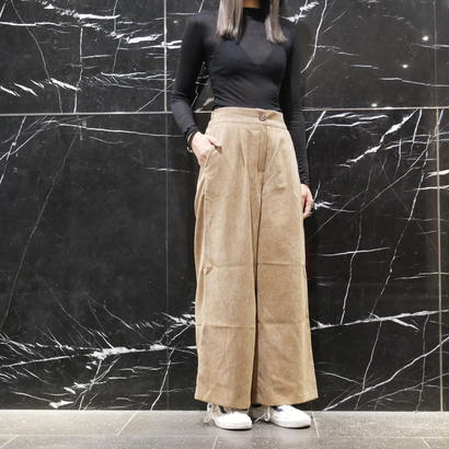 Corduroy wide pants