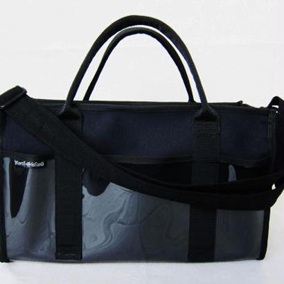 メイクBAG 帆布×ビニール(L)    ★ご希望の色(黒・紺・カーキ)をメールでご連絡ください。