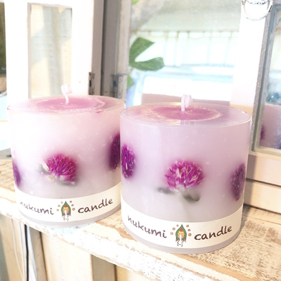 Grobe amaranth Candle