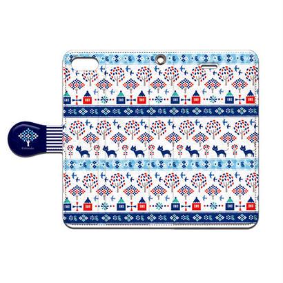 Shimako(しまこ) Forest House(ブルー) 手帳型スマホケース 対応機種(iPhone/アンドロイド機種)