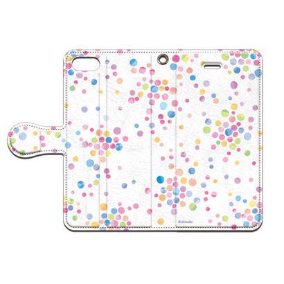 Shimako(しまこ) あまつぶ(カラー) 手帳型スマホケース 対応機種(iPhone/アンドロイド機種)