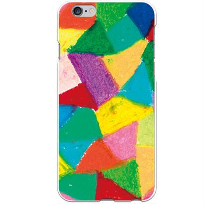 PED(ペッド) textile 日常 クリア ハード ケース(※側面部印刷なし) 対応5機種(iPhone機種)