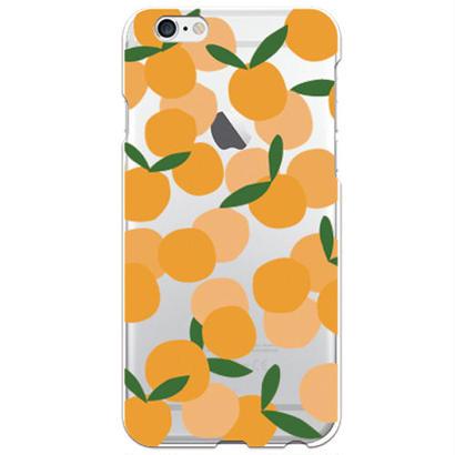 No.INFINITE オレンジ by maw クリア ハード ケース(側面部印刷なし) 対応5機種(iPhone機種)
