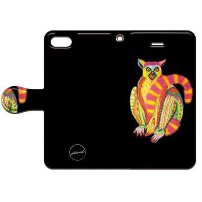 PED(ペッド) ワオキツネザル 手帳型スマホケース 対応機種(iPhone/アンドロイド機種)