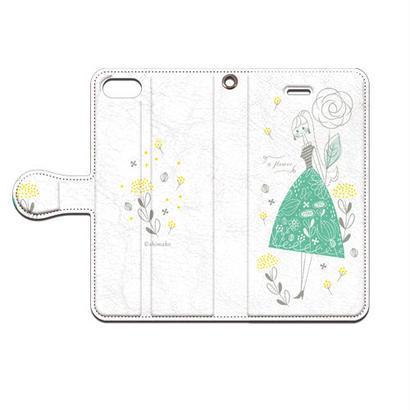 Shimako(しまこ) a flower 手帳型スマホケース 対応機種(iPhone/アンドロイド機種)