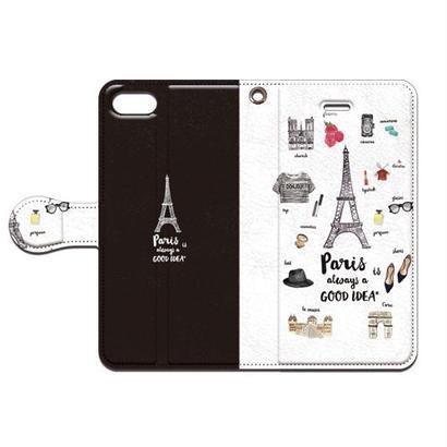No.INFINITE Paris(ブラック) by maw 手帳型スマホケース 対応機種(iPhone/アンドロイド機種)