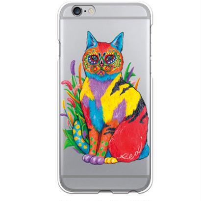 PED(ペッド) cat クリア ハード ケース(※側面部印刷なし) 対応5機種(iPhone機種)