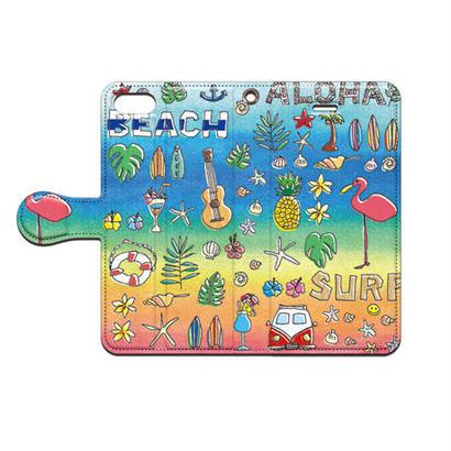 cana.(キャナ) aloha 手帳型スマホケース 対応機種(iPhone/アンドロイド機種)