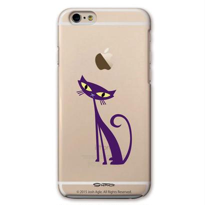 SHAG(シャグ) iPhone6/6s Purple Cat クリア ハード スマホケース