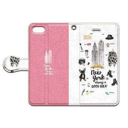 No.INFINITE New York(ピンク) by maw 手帳型スマホケース 対応機種(iPhone/アンドロイド機種)