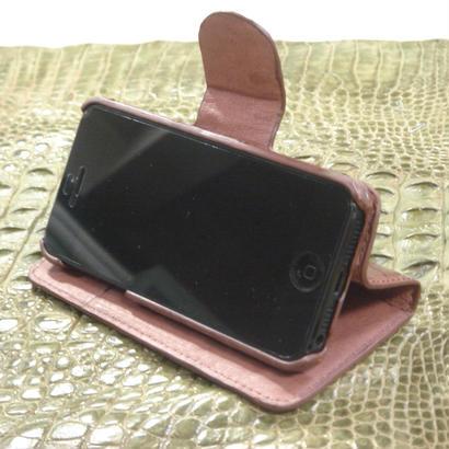 iPhone5/5S/SE ケース 正真正銘本物クロコダイル(鰐皮革)S0078