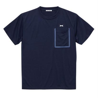 ドライポケットTシャツ ネイビー
