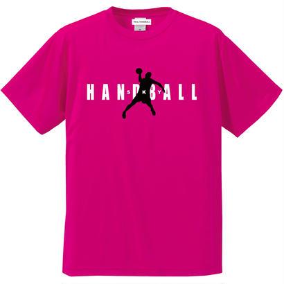 シンプルロゴ ショッキングピンク ドライTシャツ