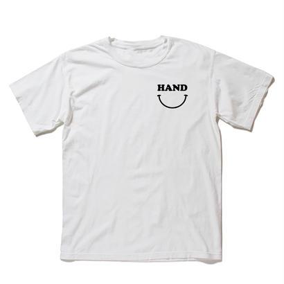 HANDスマイル ピグメントTシャツ ホワイト