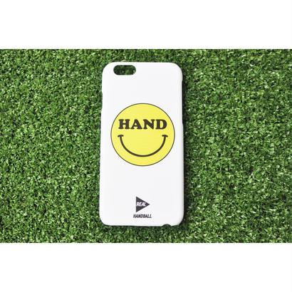 iphoneケース HAND スマイル ホワイト ★iPhone対応 5/5s/SE 5c 6/6s 6Plus/6sPlus 7 7plus 8 8plus★